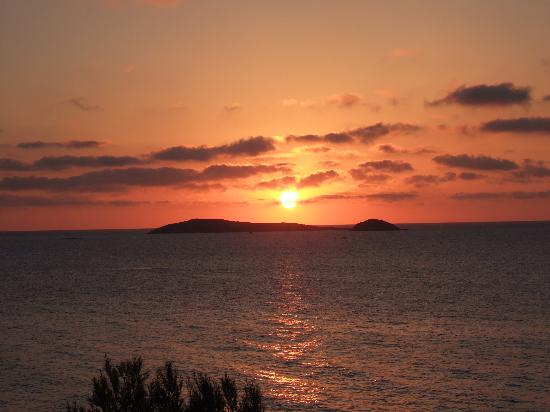 Santa Eulalia del Rio, Spain: View of the Sunrise from hotel room