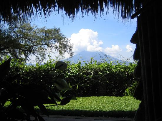 Santa Cruz La Laguna, Guatemala: View from the hammock outside the Jaguar Room