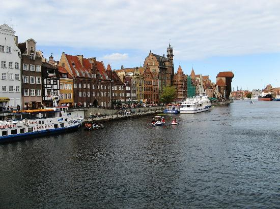 Dantzig, Pologne : Gdansk River View 