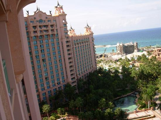 View to the left of our waterview room in royal towers for Terrace view atlantis royal towers