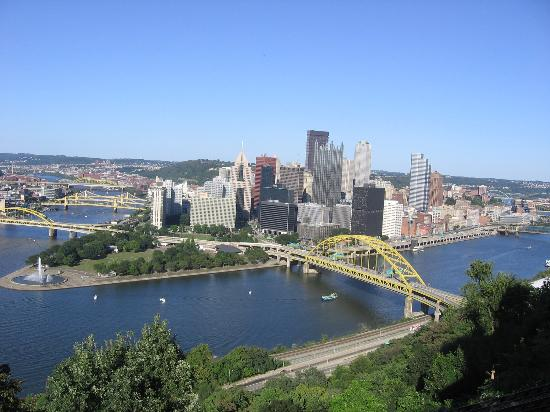 , : Beautiful downtown Pittsburgh