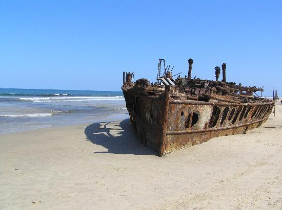 Shipwreck on Fraser Island.