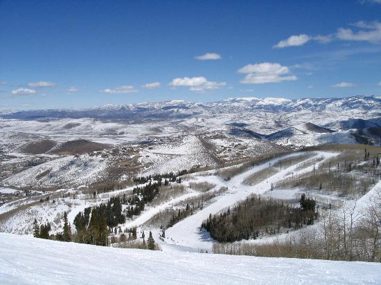 A View Down The Slopes At Park City