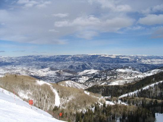 A View Of The Surrounding Mountains From Atop Park City Slopes