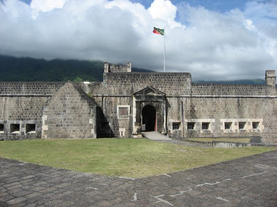 St. Kitts en Nevis: View of the fort