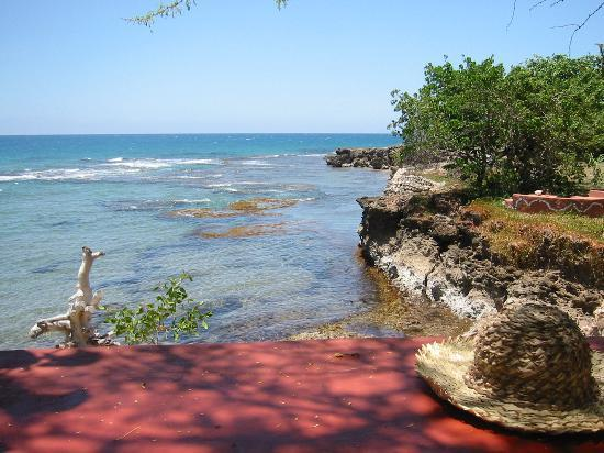 Treasure Beach, Jamaica: This is one view from the poolside bar.