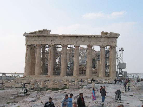 Parthenon restoration - Picture of Parthenon, Athens ...