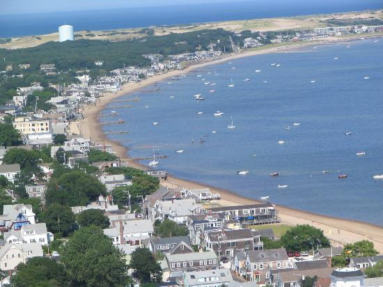 Provincetown, MA: View of Harbor from Pilgrim&#39;s Monument