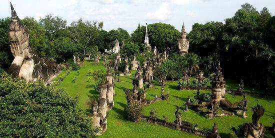 Vientiane, Лаос: view from up high