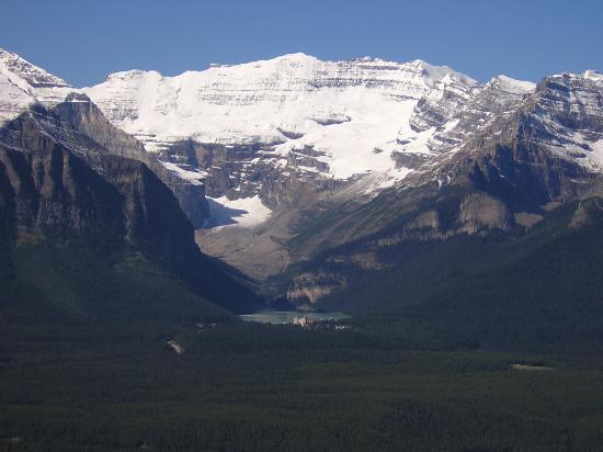 Lake Louise from a distance