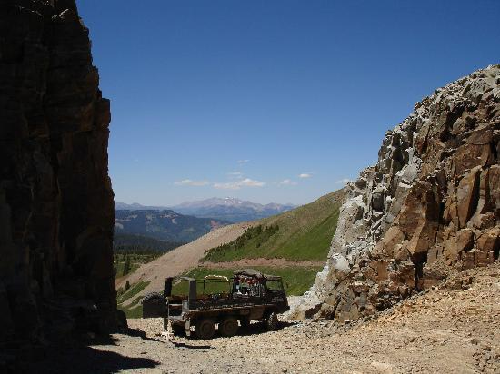 , : Scene from LaPlata canyon jeep tour