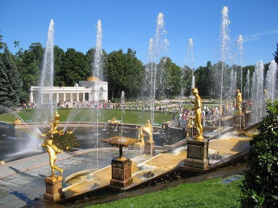 St. Petersburg, Russia: The Grand Cascade in Peterhof