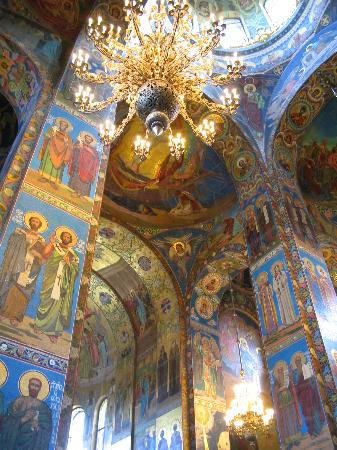 St. Petersburg, Russia: Church on Spilled Blood inside
