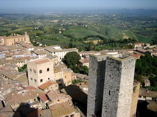 San Gimignano, Italy: View from the Torre Grossa