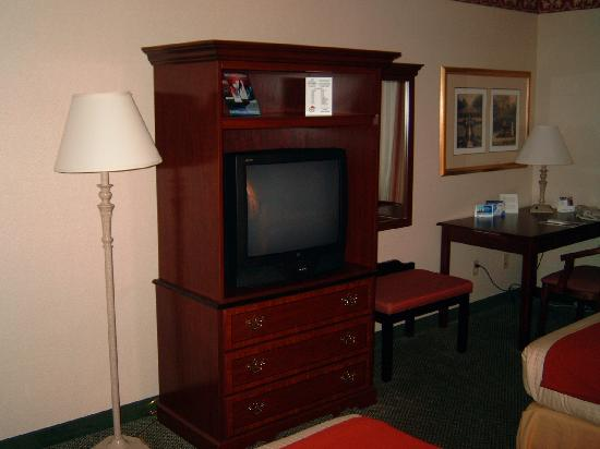 Comfort Suites Vancouver: For the men, the big tv
