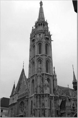Budapest, Hungary: St. Matyias Church, built in the 1300s