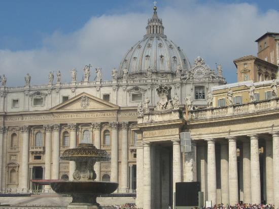 Vatican City, Italy: St. Peter's Basillica from St. Peter's Square
