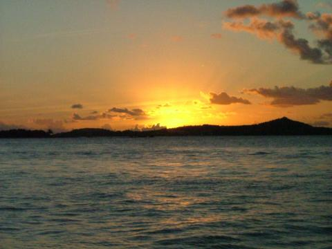 Sunset Over St. Thomas