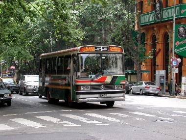 A typical Buenos Aires Bus (colectivo)