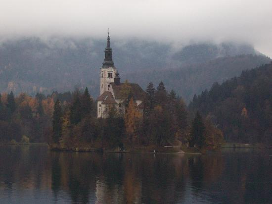 Island at Bled in Autumn