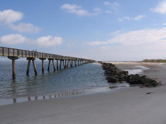 Fernandina Beach, Флорида: Fort Clinch Pier