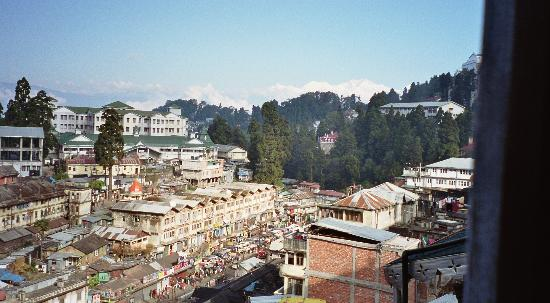 Seven Seventeen: Kanchenjunga and Darjeeling view from hotel room