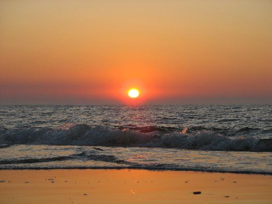 Lower Saxony, Germany: sunset on the beach