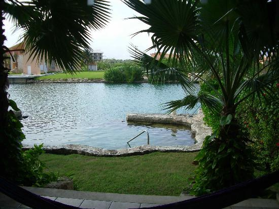 La Mision: View of pool from our patio.