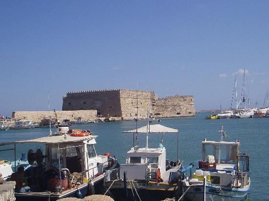 From the fishing harbour in Heraklion