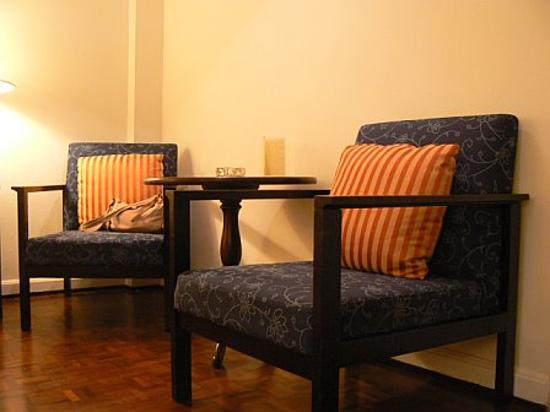 The Sunrise Residence: chairs in our room