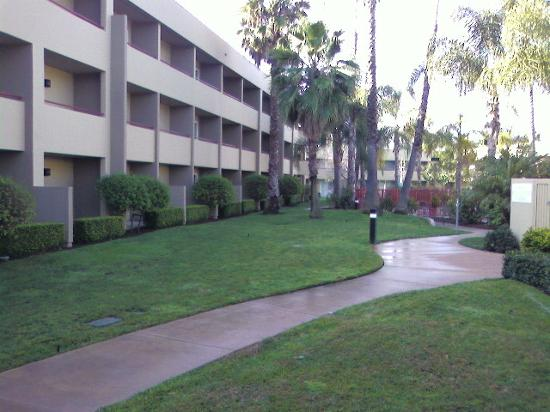 Fairfield Inn &amp; Suites San Jose Airport: Rooms facing the courtyard