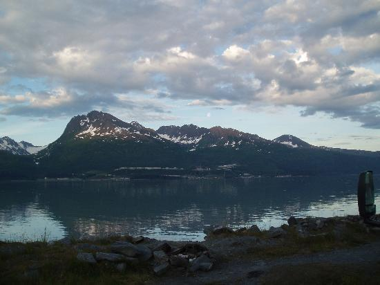 View from the campground in Valdez