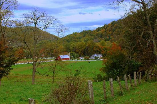 Uncle Carroll's farm in Maggie Valley