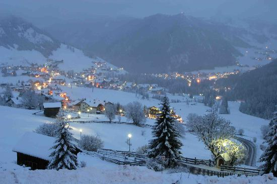 Trentino Dolomites, Italy: The week before Christmas, view from Garni Delta