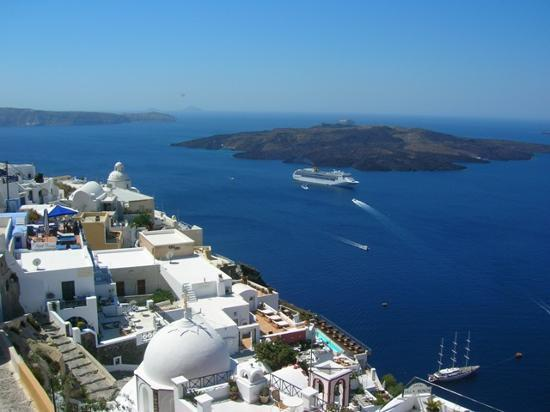 Nea Kameni from Fira by Gisper