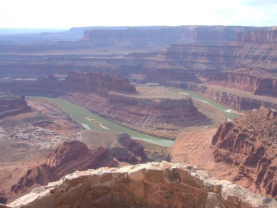 Moab, UT: Overlooking the Green & Colorado Rivers on Dead Horse Point Overlook