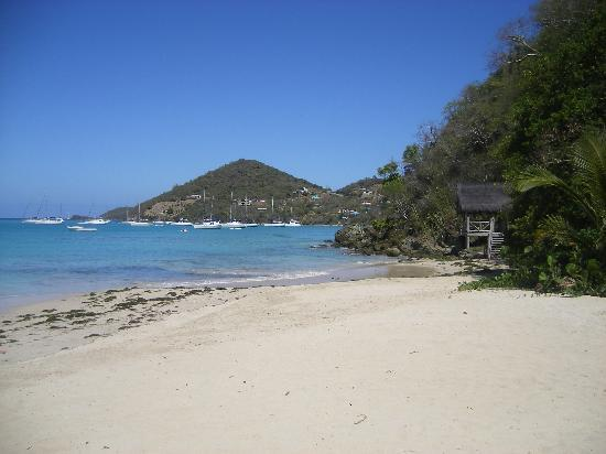 Charlestown, Canouan: Beach by hotel (2)