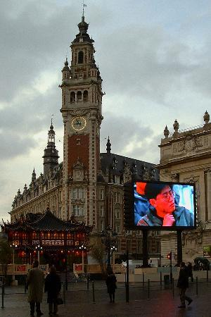 Lille, France : The clock Tower building 