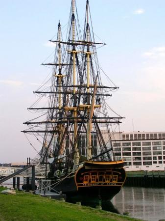 Ship docked in Salem