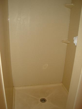 Sleep Inn & Suites: After you turn RIGHT into the shower (notice the floor is dirty)