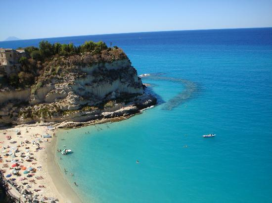 Public beach as seen from Tropea