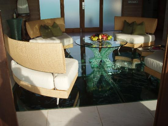 Glass floor living room - Picture of Conrad Maldives Rangali ...