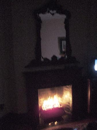 The Wynstone: Couldn't get enough of the fireplace.