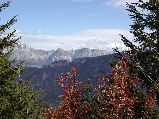 Annecy, France : View of Mt. Blanc from the road up Semnoz 