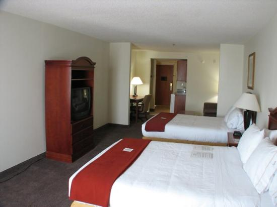 Holiday Inn Express Hotel and Suites - John's Creek: Queen Beds and TV Armoire