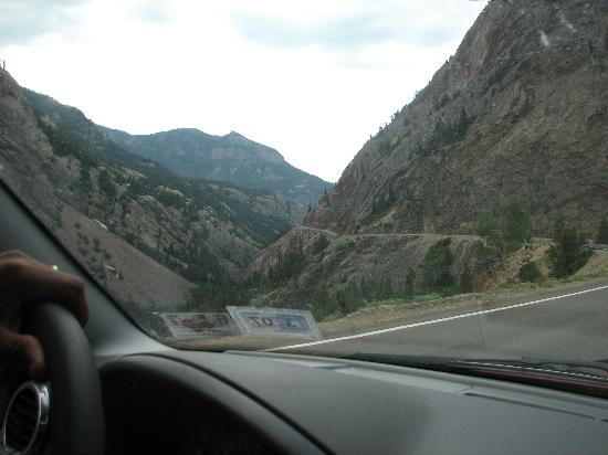 Durango, CO: driving to Ouray along Million Dollar Hwy - SCARY !  :) but fun