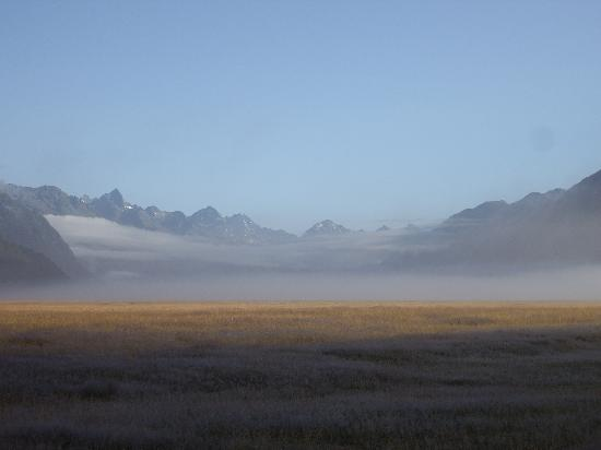 South Island, New Zealand: Low cloud - road to Milford Sound