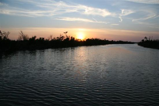 Blind Pass Condominiums: Sunset over the bayou near Blind Pass Condos