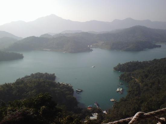 Nantou, Taiwan: View of Sun Moon Lake from Tsen Pagoda
