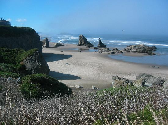 Bandon, Oregón: View from Face Rock